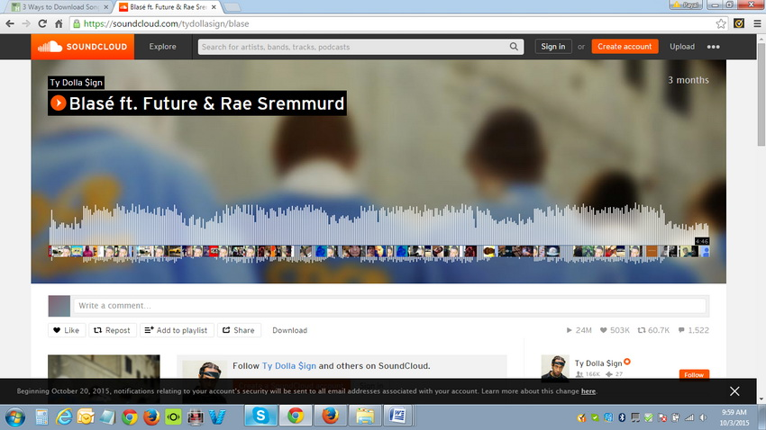 How to get songs downloaded from Soundcloud - Copy URL