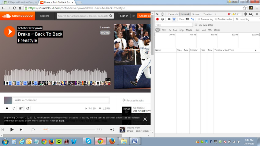 How to get songs downloaded from Soundcloud - Display Sidebar