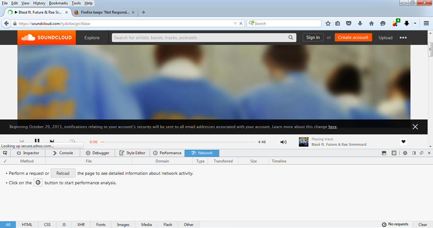 Tips for SoundCloud download Firefox - Reload Website