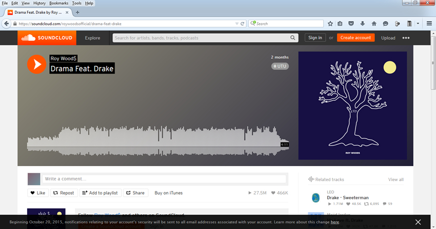 Tips for SoundCloud download Firefox - Copy URL