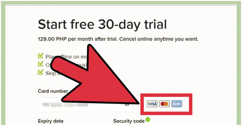 Spotify 30 Day Trial-select payment details