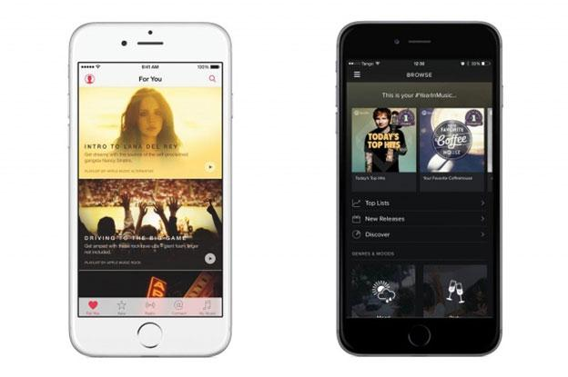 Apple Music Vs Spotify-User Interface