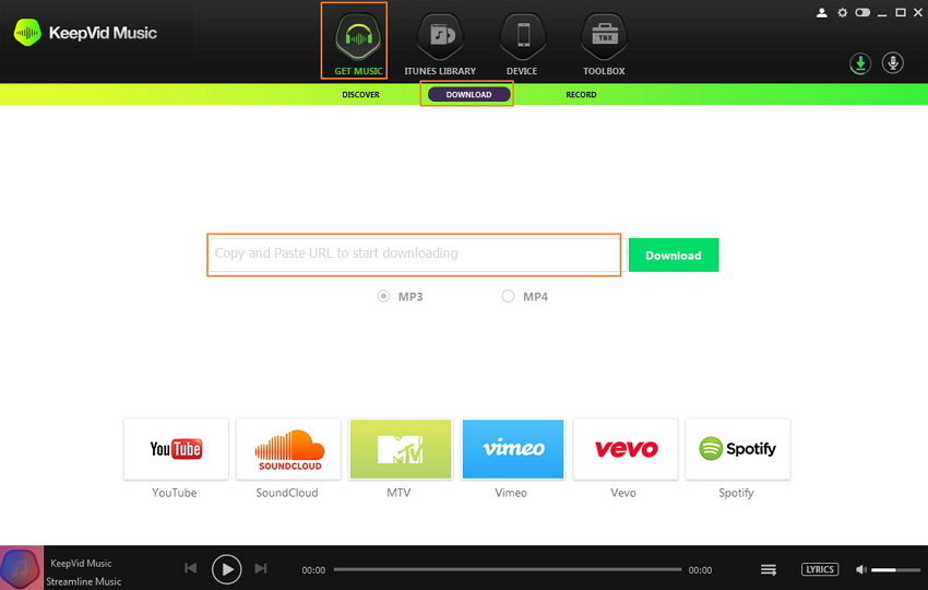 Best Spotify Downloader Online-launch keepvid music