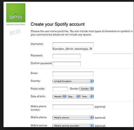 How to install Spotify-on Mac-create an account