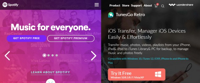 Sync Spotify to iPod with A Third Party Tool - TunesGo Retro
