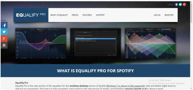 listen-spotify-music-win-equalify pro equalizer for windows