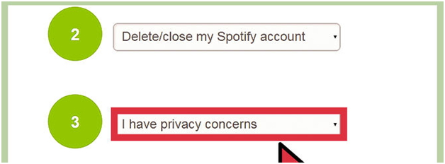 How to Delete Spotify Account Permanently-Select the appropriate reason