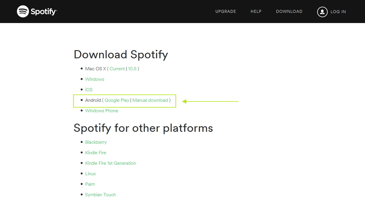 how to download spotify android-download raw apk