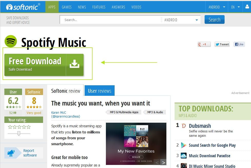how to download spotify android-softonic