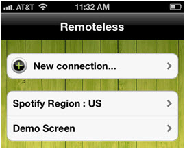 spotify-remote-control-run and click on the new connection tab