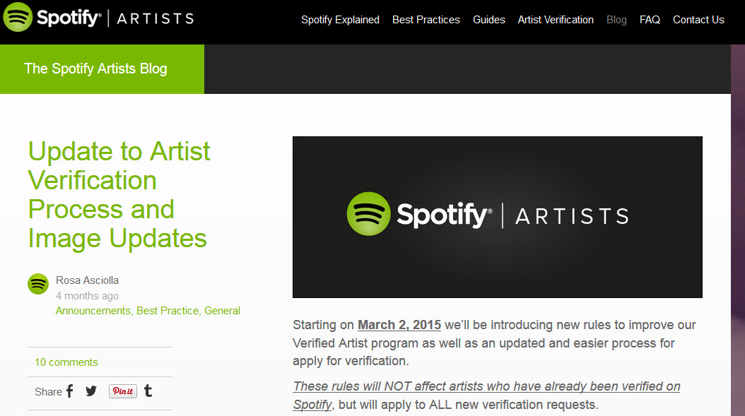 Ways to keep in touch with Spotify streaming-Spotifyartists