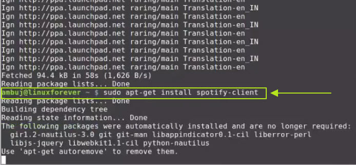 Listen to music on Spotify Linux whenever you want-Install Spotify client