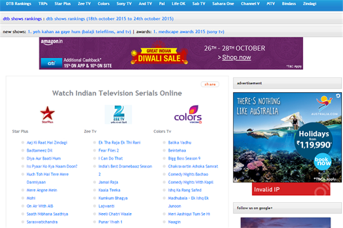 Watch Indian TV - Live Indian Channels