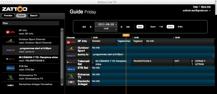 live tv software for mac free
