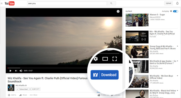 DownloadHelper for Chrome-KV download button