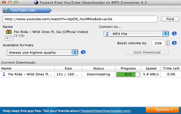 Fastest YouTube Downloader - Fastest YouTube Downloader Screen Shot