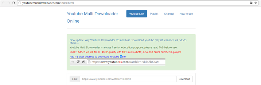 YouTube Playlist Downloader - Go to the Online Downloader