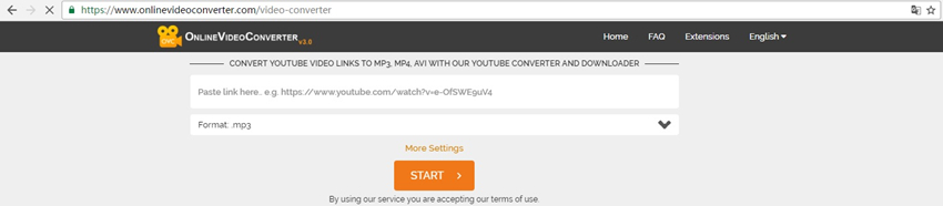 Convert YouTube to AVI - Paste URL into OVC