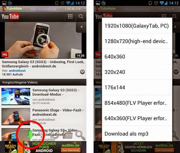 TubeMate YouTube Downloader Alternative - TubeMate Interface