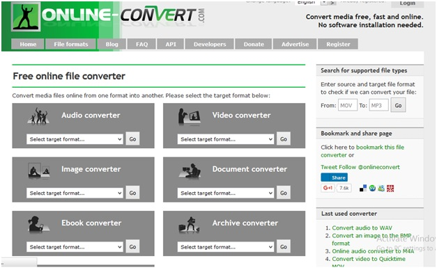 How to convert YouTube to AVI online-Online convert