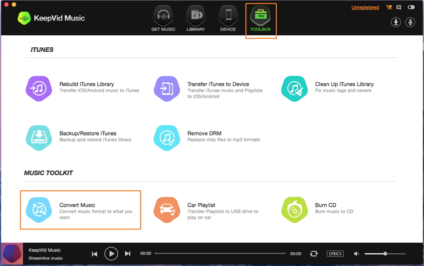 Convert Music with KeepVid Music