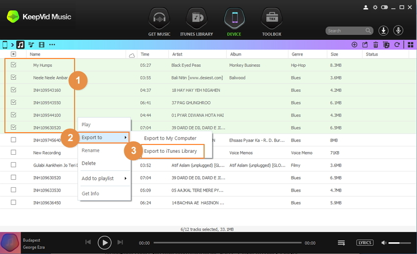 deezer playlist - export deezer playlists to itunes step 2