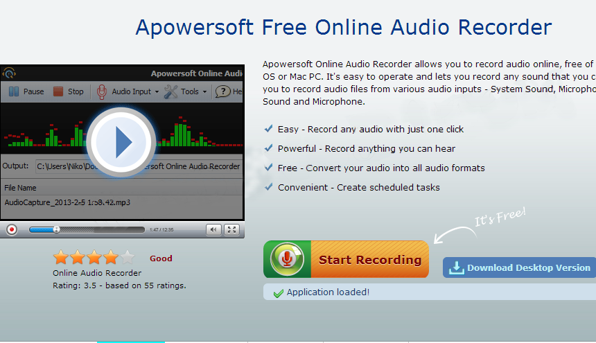 How to record online music and tranfer to iTunes-Click on start Recording