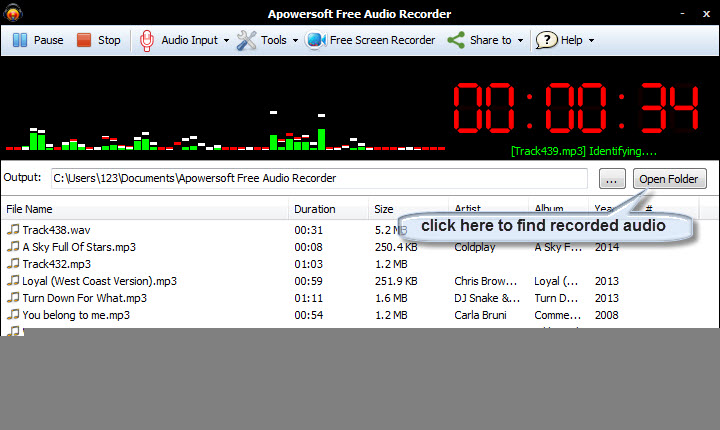 How to record online music and tranfer to iTunes-Show the recorded files