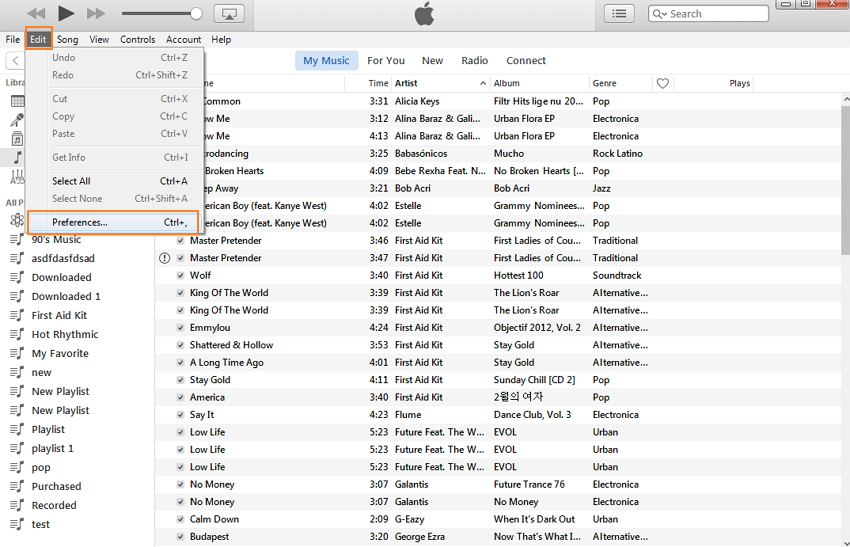 how to put music on itunes from another computer