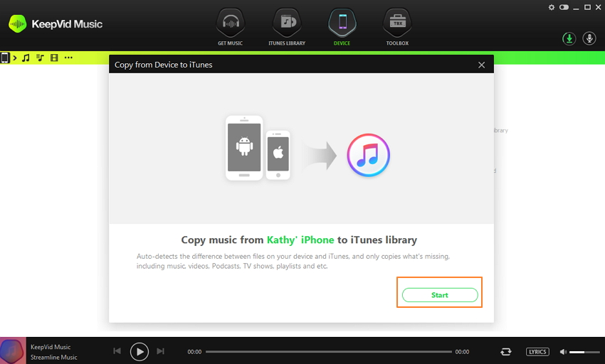 Back up iTunes- How to transfer from iTunes to computer-start transfer to new computer
