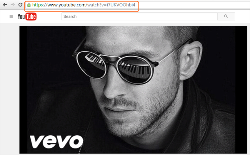 Take Audio from YouTube - Copy URL