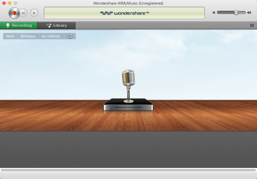 How to Record Audio on Mac - Start Wondershare Streaming Audio Recorder
