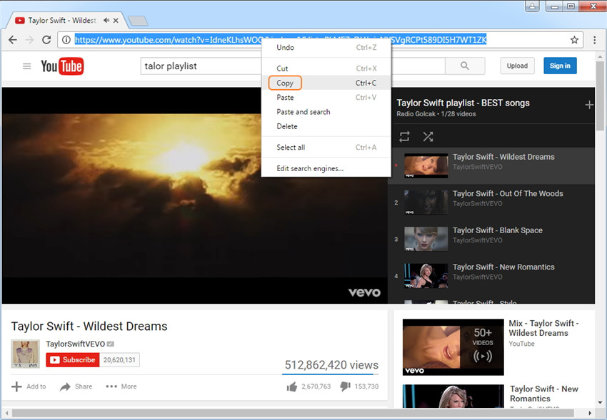 Download YouTube Playlist & Lynda Playlist in One Click - Copy the URL