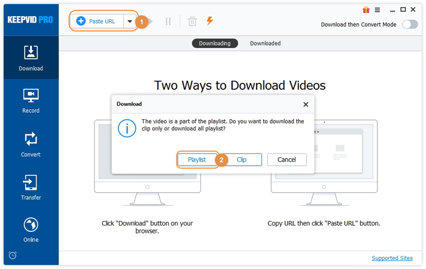 Download YouTube Playlist & Lynda Playlist in One Click- copy playlist URL