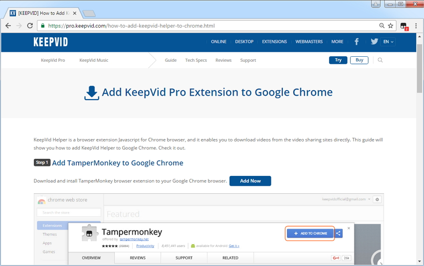 Download Videos from Websites - Install Browser Plugin when Installing KeepVid Pro