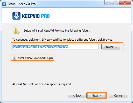 Into KeepVid Pro - blader door de bestemmingsmap