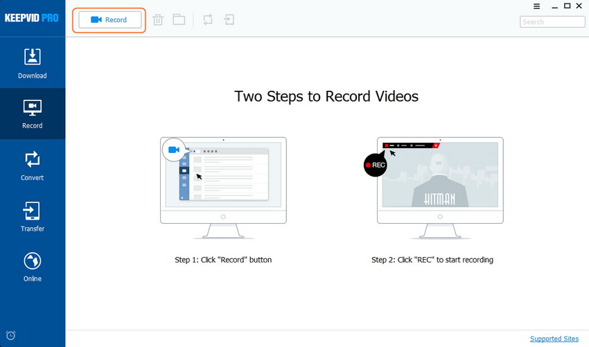Download Videos from eHow - Choose Record Option