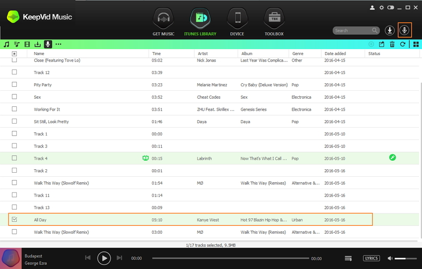 download deezer songs - step 2: the downloaed music in the iTune library