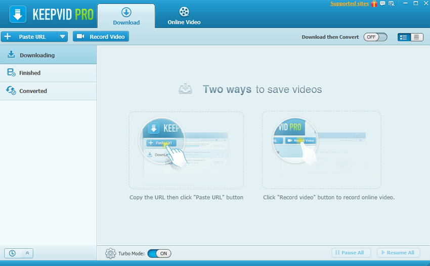 Download video from YouTube/websites to PC-Launch KeepVid Pro